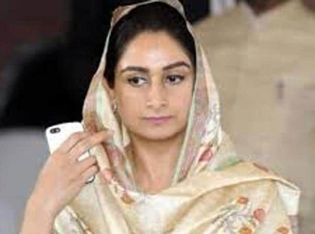 Union minister for food processing and member of Parliament (MP) from Bathinda Harsimrat Kaur Badal