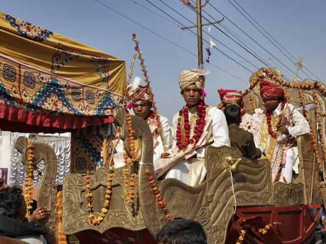 Tension prevailed in a Haryana village after upper caste people stopped a Dalit groom from riding a horse-drawn carriage during his marriage procession and pelted the marriage party and a police team with stones.