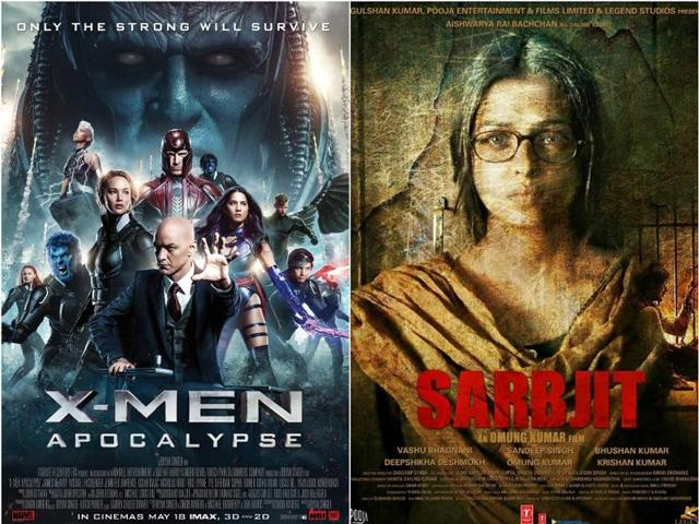 X-Men: Apocalypse has made Rs 10.16 crore over two days while Sarbjit is trailing with Rs 8.25 crore.