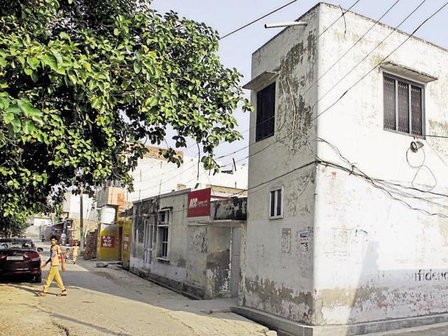 Accused Gagandeep's house at Chhandran village in Sahnewal.
