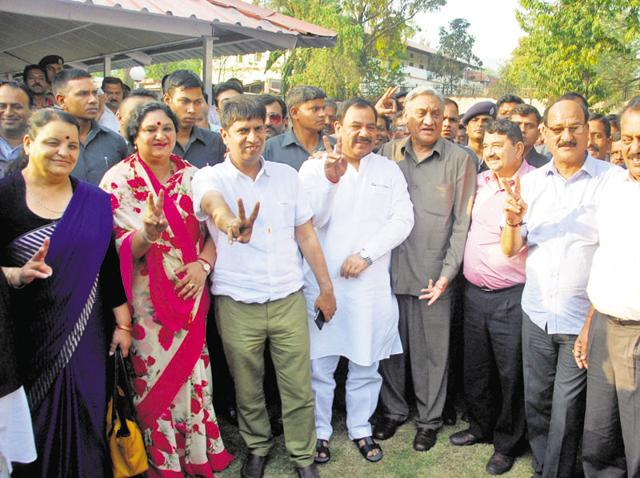 Nine Congress rebels formally joined the BJP on May 18.