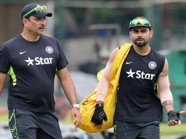 Ravi Shastri has said Virat Kohli's sensational form can only benefit Indian cricket.(AFP)