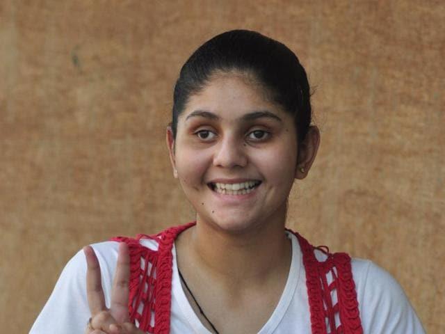 Visually-impaired,Visually-impaired girl,95% marks