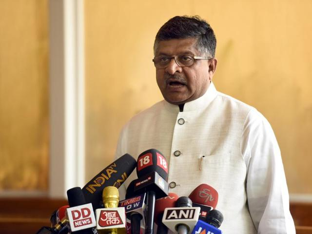 Ravi Shankar Prasad announced that the Department of Posts will provide 1.30 lakh network-connected hand-held devices to postmen working in rural areas to carry out postal transactions by next year.