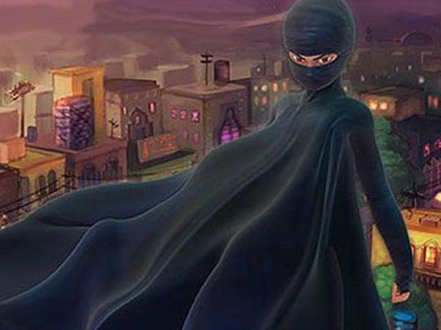 Burka Avenger is an orphan girl who grows up learning how to fight with 'books, pen and education'.