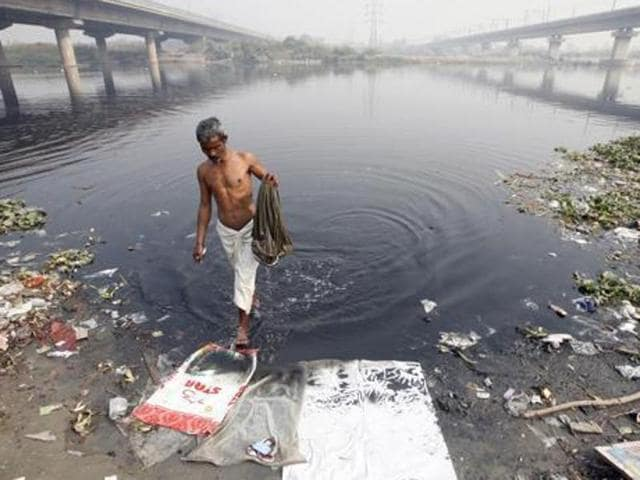 Impressed by his work to clean the Bein, Delhi water minister Kapil Mishra on Monday met and invited environmentalist Balbir Singh Seechewal to his state for the project to clean another sacred river — the Yamuna (above).