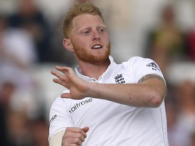 England's Ben Stokes celebrates dismissing Sri Lanka's Dinesh Chandimal.