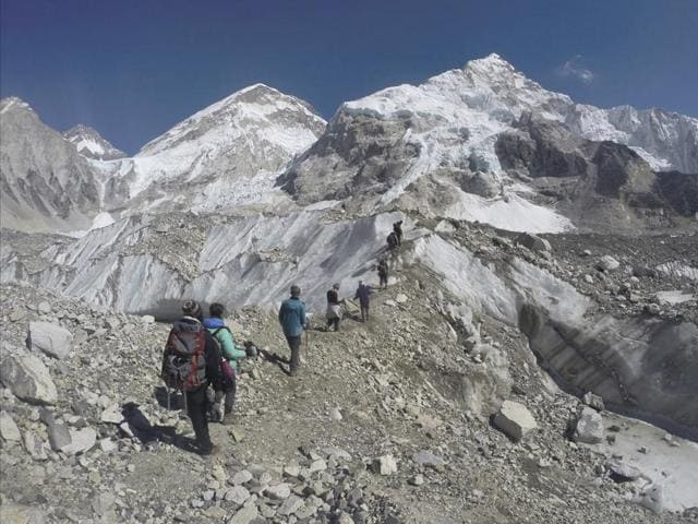 The missing mountaineers from Bengal who went to scale Mount Everest were rescued by Sherpas on Sunday.