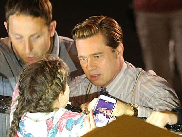 Brad Pitt rescued a child from a stampede. Watch the drama unfold
