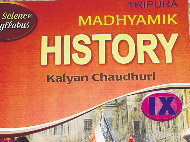 The cover page of the history textbook. Tripura's Left Front government has removed Indian history from Class 9 textbooks.