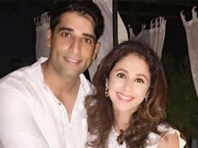 Urmila Matondkar  with husband Mohsin Akhtar Mir. the couple married in March.