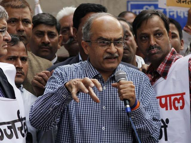 Swaraj Abhiyan leader Prashant Bhushan has claimed that Delhi CM Arvind Kejriwal can even join hands with Narendra Modi for personal gains.