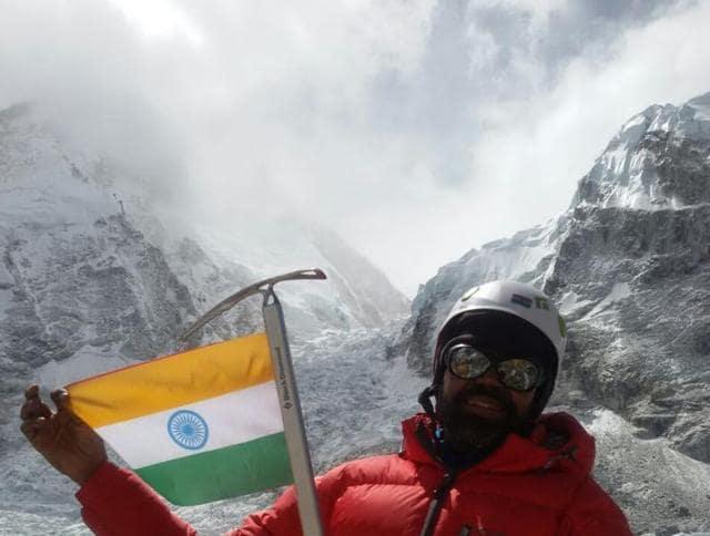 Gwalior mountaineer Bhagwan Singh at Everest.