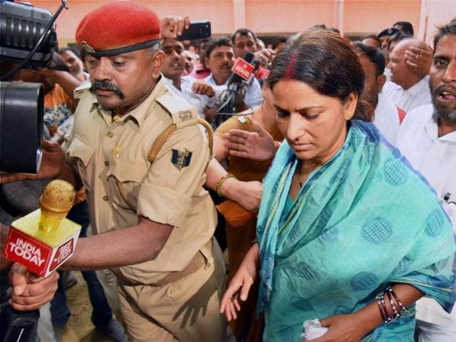 Devi, who is accused of violating prohibition law, was last week sent to 14-day judicial custody. She, however, blamed the Bharatiya Janata Party (BJP) for falsely implicating her.