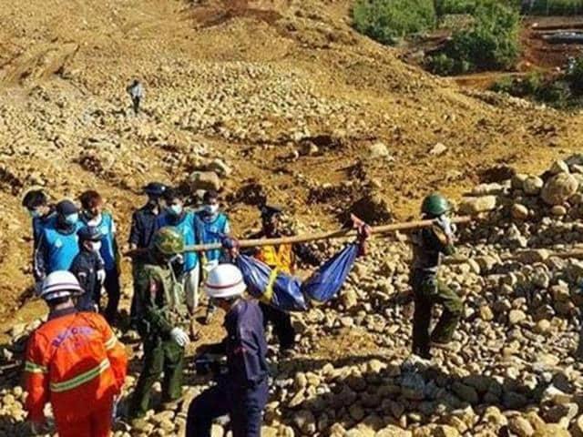 Myanmar,Landslide,Jade mine
