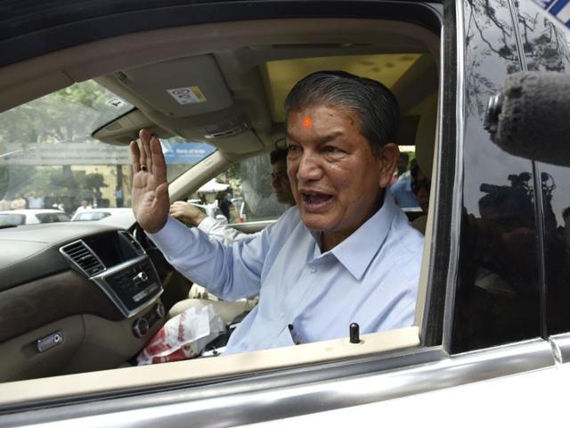 Uttarakhand chief minister Harish Rawat reaches the CBIheadquarters.