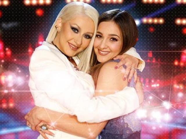 Alisan Porter and her coach Christina Aguilera.