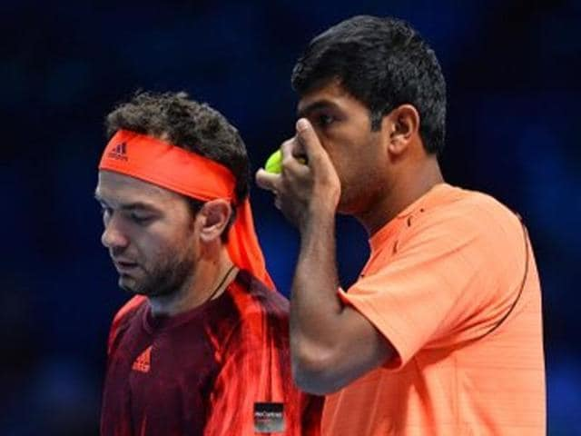A file photo of Rohan Bopanna and Florin Mergea.