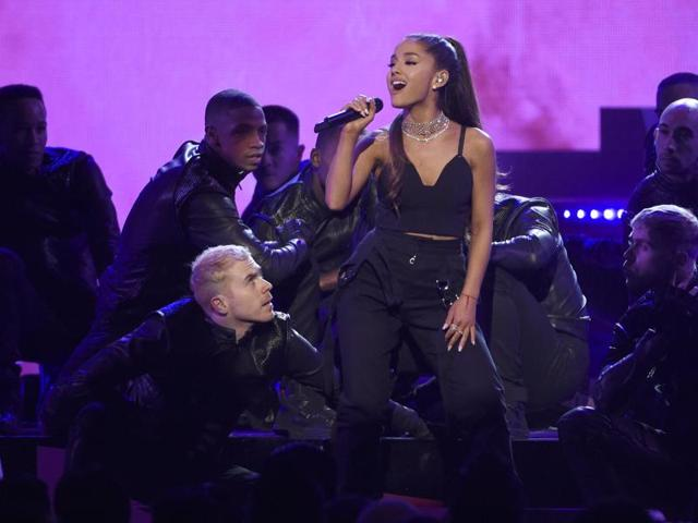 Ariana Grande performs at the Billboard Music Awards on May 22, 2016 in Las Vegas.