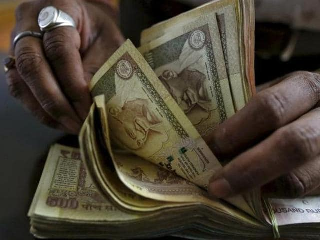 Breaking its nine-day slide, the rupee turned around against the dollar to close at 67.33.