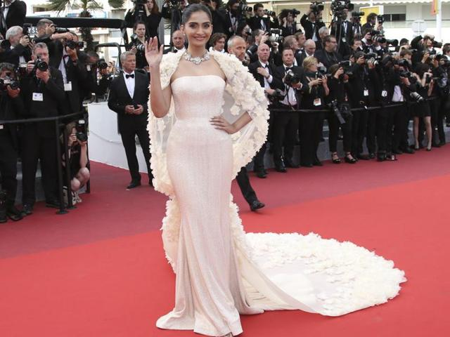"""""""As long as I'm comfortable with what I am wearing, I don't care about what other people think. I always hope to represent the Indian film industry and, most importantly, India in a correct manner,"""" says Sonam Kapoor."""