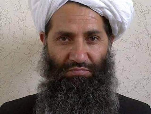 Taliban new leader Mullah Haibatullah Akhundzada is seen in an undated photograph, posted on a Taliban twitter feed.