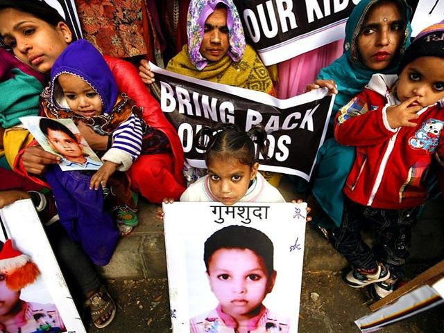 According to CRY, 22 children went missing from the state every day on an average last year.(HT file)