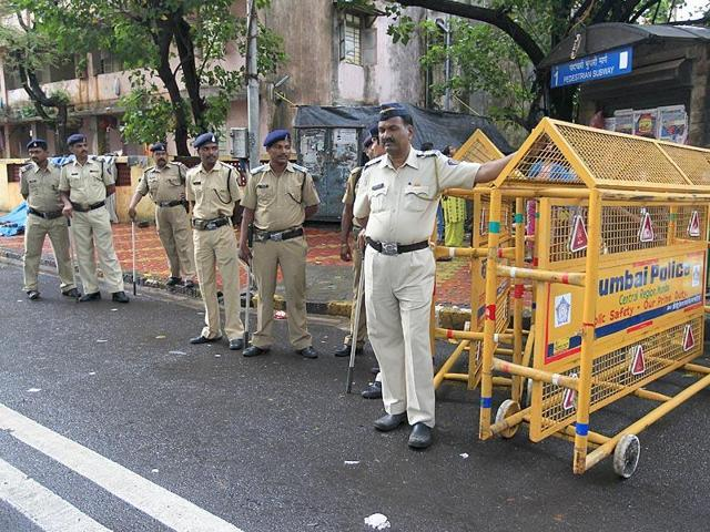 In this file photo, Mumbai police can be seen patrolling a road.