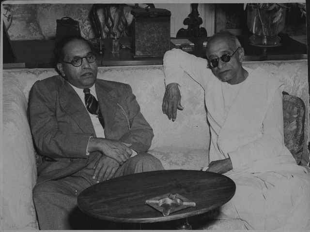 File photo dated June 14, 1948. Seen here is C Rajagopalachari (R), the then Governor General of India with BR Ambedkar, the Law Minister.