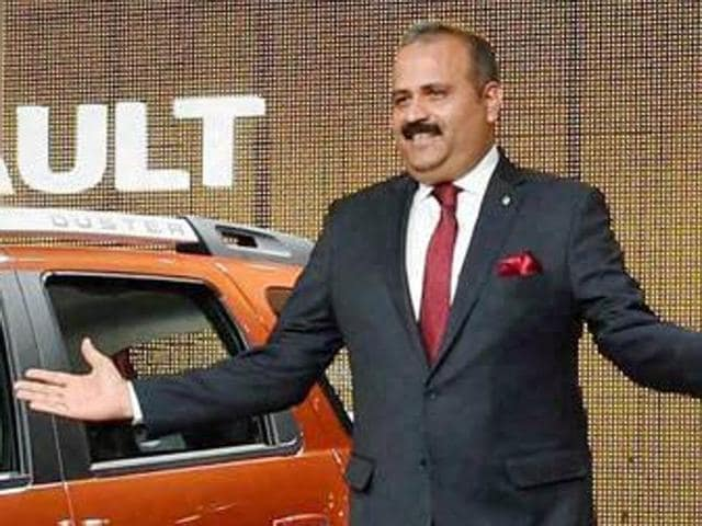 MD and CEO Sumit Sawhney at the launch of the new Renault Duster at Auto Expo 2016 in February.