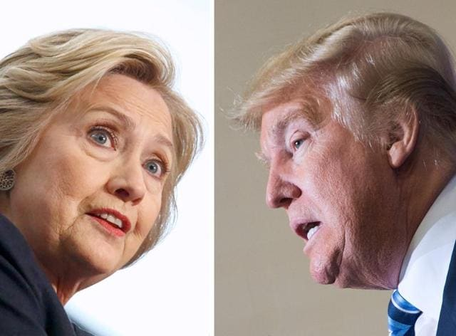 Hillary Clinton and Donald Trump are two extraordinarily different personalities who once socialized together but are now political enemies. Yet both come from the same place in a country that straddles four time zones.