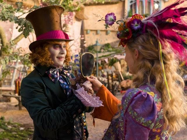 Alice (Mia Wasikowska) returns to the whimsical world of Underland and travels back in time to save the Mad Hatter (Johnny Depp) in Disney's Alice Through the Looking Glass.