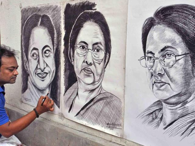 Preparations are underway at Indira Gandhi Sarani for the swearing-in ceremony of West Bengal chief minister Mamata Banerjee in Kolkata.