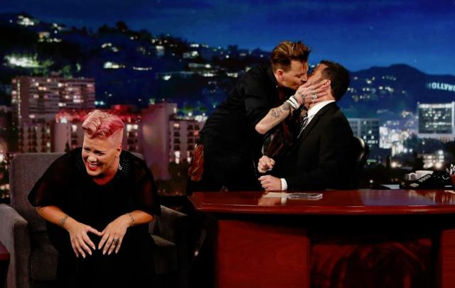 He later apologised to Kimmel but the host seemed unfazed and revealed that he enjoyed the surprise move.