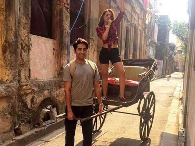 Ayushmann, Parineeti are currently shooting for Meri Pyaari Bindu. (Instagram)