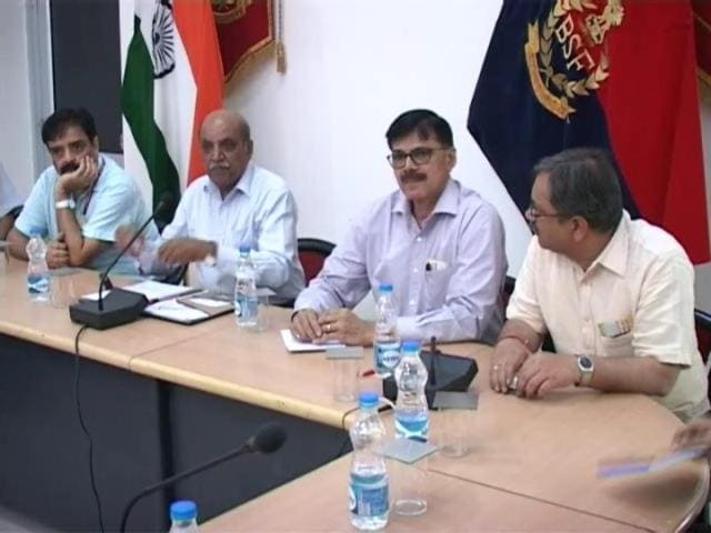 A high-level security assessment team of the central government during its visit to Hussainiwala in Ferozepur district on Wednesday.