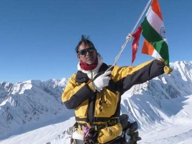 A file photo of Paresh Nath who had gone missing during his ascent to Mt Everest.