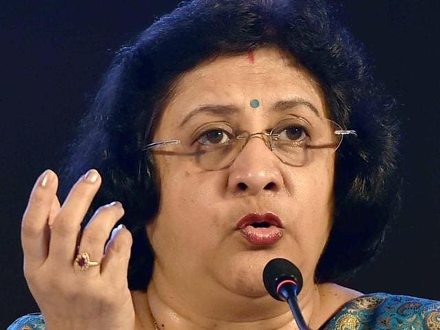 Kolkata: State Bank of India Chairperson Arundhati Bhattacharya during a press conference in Kolkata.