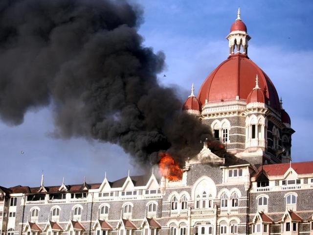 he iconic Taj hotel in Mumbai which was one of the sites struk by terrorists in November 2008.