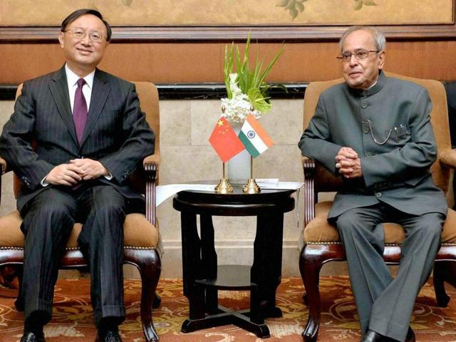 President Pranab Mukherjee during his departure from Beijing International Airport on Friday.