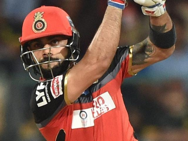 Royal Challengers Bangalore's Virat Kohli plays a shot during an IPL 2016 match against Kings XI Punjab.