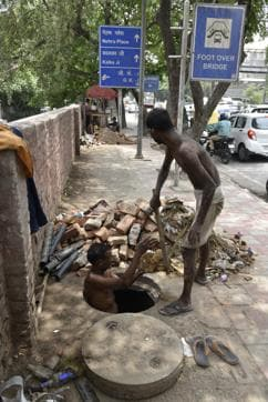 PWD has started the process of desilting the drains on Ring Road near Savitri Flyover.
