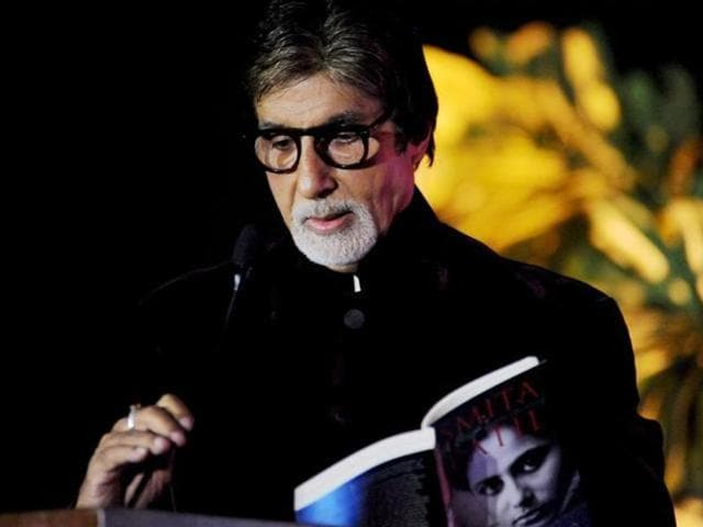 Amitabh Bachchan at a book launch event. (HTPhoto)