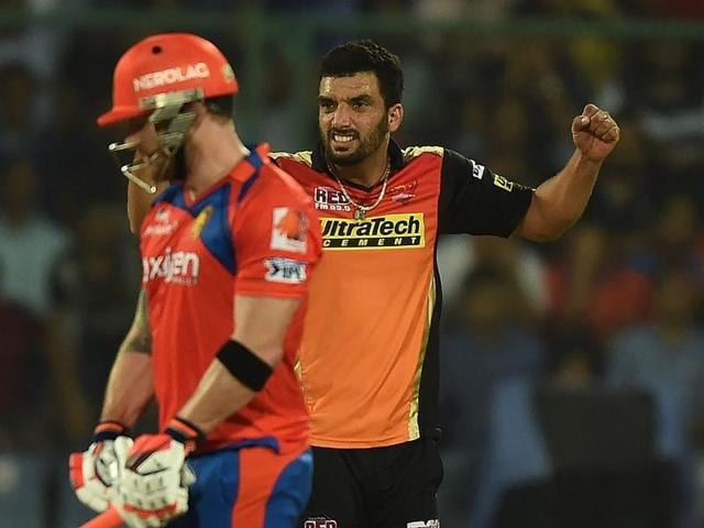 Sunrisers Hyderabad Bipul Sharma dealt a telling blow  in the Qualifier after he dismissed dangerous Brendon McCullum.