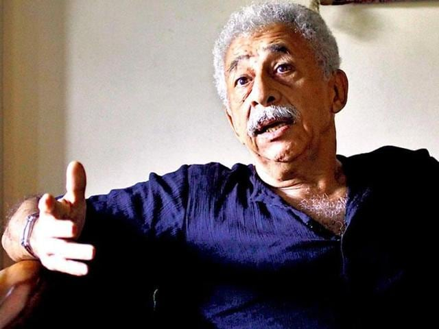 Actor Naseeruddin Shah during an exclusive interview  with HTCity on May 27, 2016. The actor has denied making any controversial remarks about Anupam Kher.