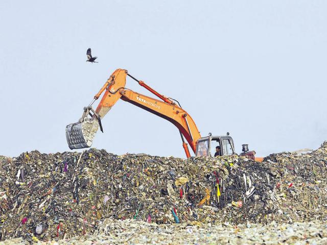 Garbage from Gurgaon and Faridabad is currently dumped in Bandhwari, a village off the Gurgaon-Faridabad expressway, without treatment.