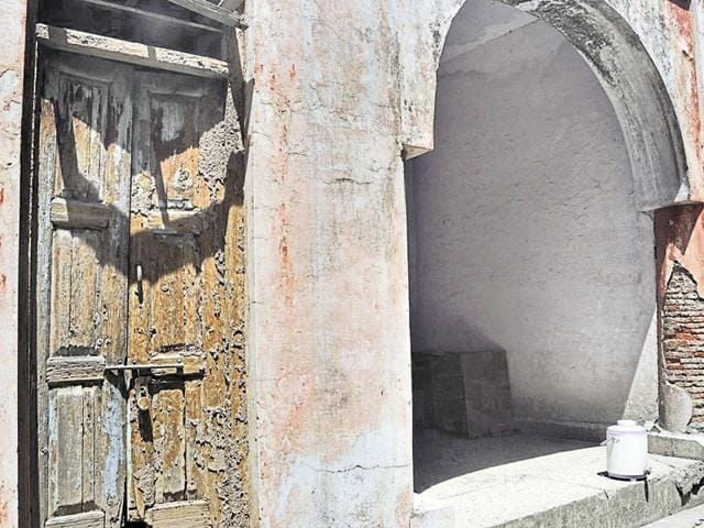 Seepage, trees taking root in walls and termite-infested doors at the 159-year-old heritage building in Sector 12-A, Panchkula.