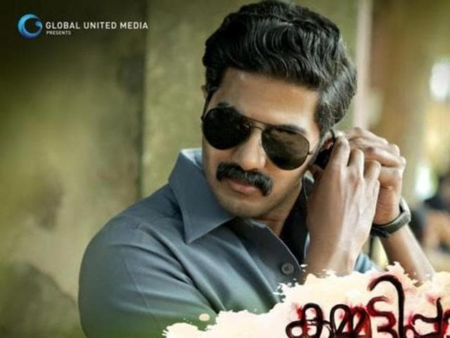 Dulquer Salmaan on the poster of Malayalam action-drama Kammati Paadam.