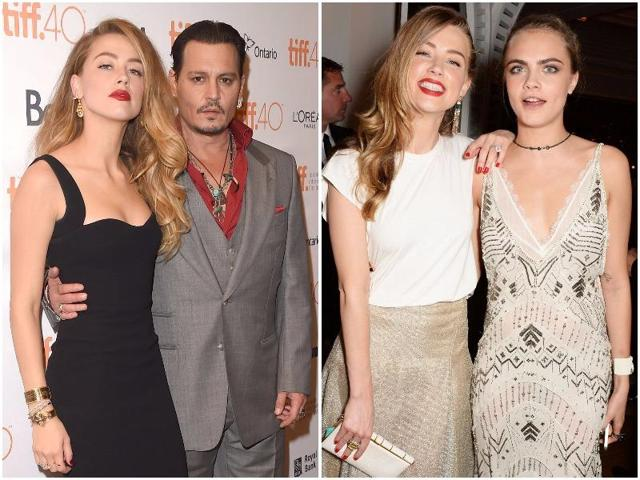 According to reports, the famous couple's marriage was on the rocks because of Amber's close relationship with  Cara, and Depp thought they were 'making a fool of him'.