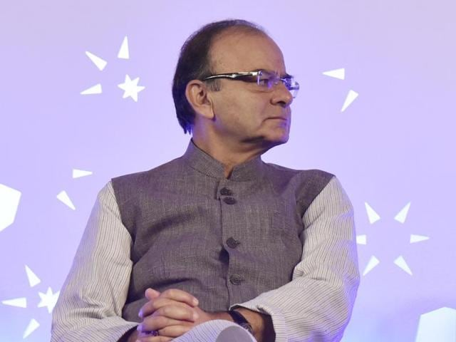 Finance minister Arun Jaitley during an interview with Hindustan Times at his office in North Block, New Delhi.